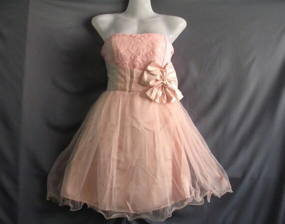 Romance Party Dress - Sweet Honey Bridesmaid Dress - Soft Pink Cocktail Dress Teen Girl Dress