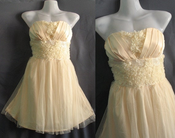 Romance Ruffle Party Dress - Honey Bridesmaid Dress - Birthday Gifts Cocktail Dress Prom Dress