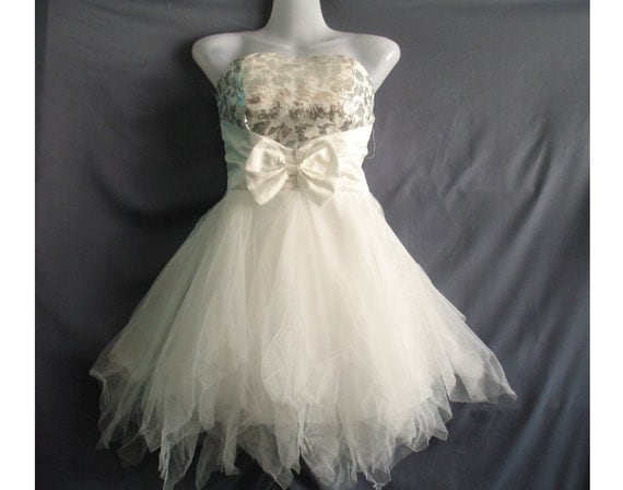 Romance Prom Dress - Party White Dress - Teen Girl Clothing Bridesmaid Dress Cocktail Dress