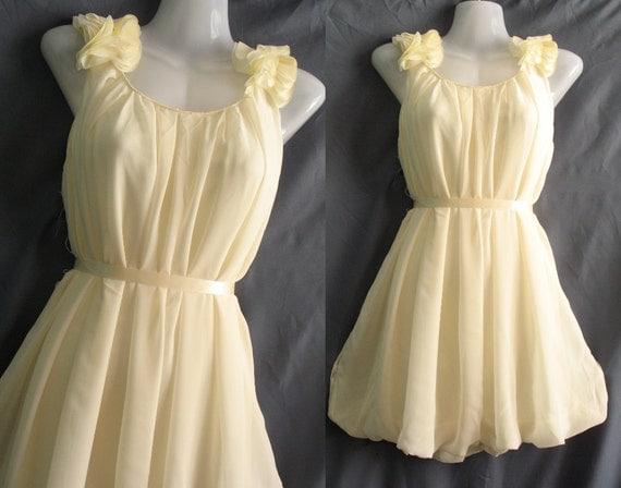 Angle Chiffon Party Dress - Romance Prom Ruffle Cocktail Dress - Sweet Girl Bridesmaid Dress
