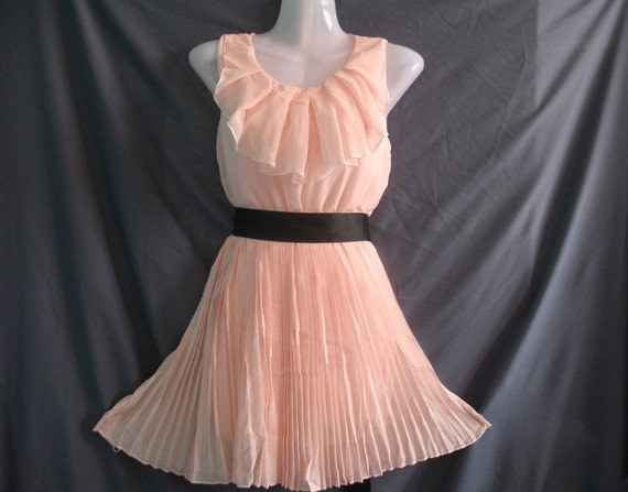 Angle Chiffon Party Dress - Romantic Ruffle Cocktail Dress - Sweet Pink Little Girl Short Dress