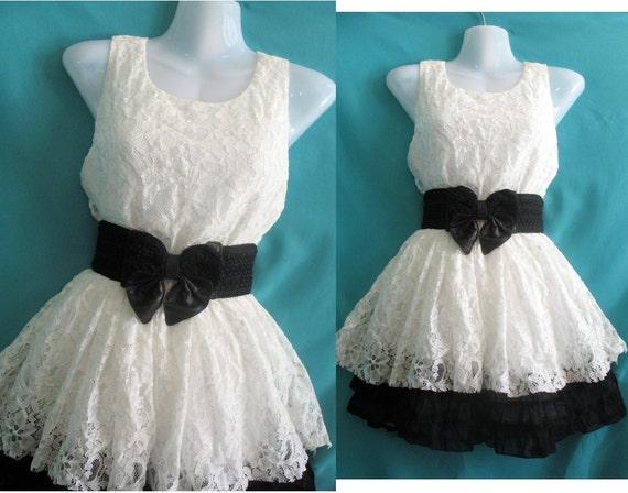 Soft Cocktail Lace Dress - Girls Party White Dress - Romance Night Bridesmaid Dress Prom Dress