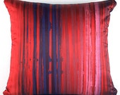 Striped Pillow (Red, No. 5)