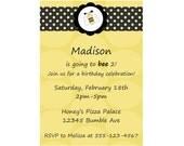 Bumble Bee Invitation Birthday Invite DIY Custom Printable