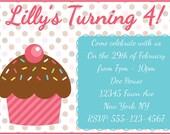 Cupcake Invitation Birthday Party