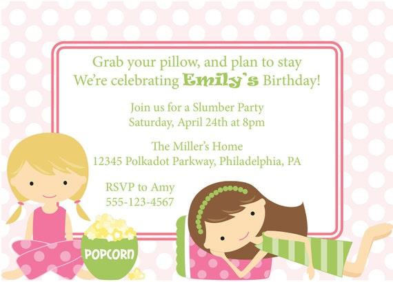 Pyjama Party Invite as good invitation example