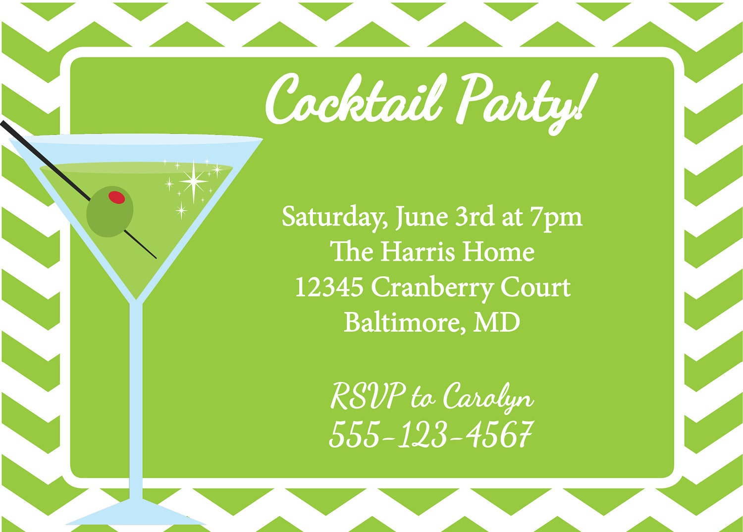 martini invitation cocktail party diy printable green martini martini invitation cocktail party diy printable green martini invite 🔎zoom