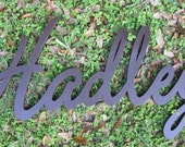 Custom Wood Name Sign - Cursive  - Vintage Retro Vintage Chic Cottage Decor