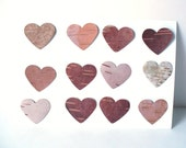 Birch Bark Heart Confetti Invitations Rustic Country Decoration