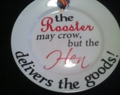 Rooster 11 inch plate