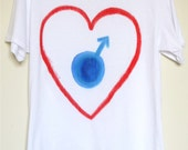 "Heart Men""Couple Tshirt, Prefect gift for valentaine"