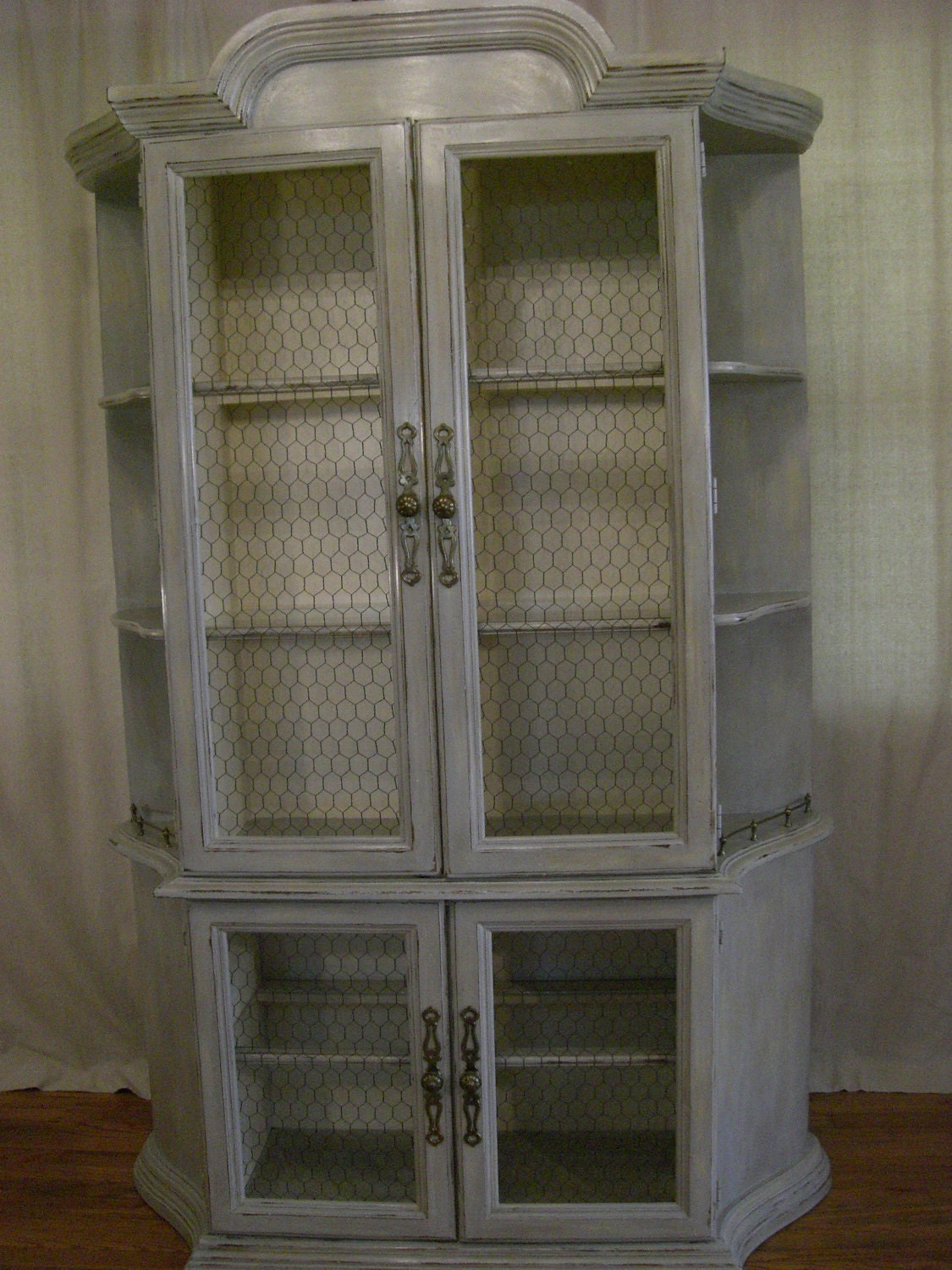 Charming French Country China Cabinet