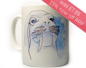 SALE 15% OFF Walrus Ceramic Cup, Housewares