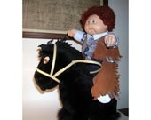 Vintage Cabbage Patch Doll Cowboy Horse Sweet