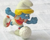Vintage Soccer Smurfette