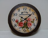 "Dollhouse More Miniature Wall Clock ""The Marseille Rose"" One Inch Scale"