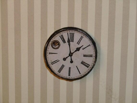 Dollhouse Miniature Vintage Timepiece Wall Clock TREASURY LIST