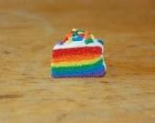 Rainbow Cake Keychain
