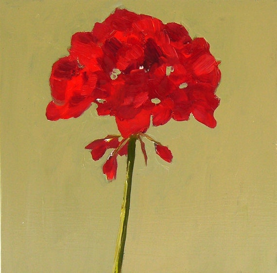 Simple Red Geranium Fl...