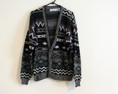 SALE - no. 112 - the bill cosby cardigan - vintage sweater