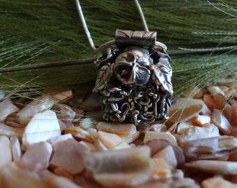 A Little Slice Of Heaven Tiki Hut Fine Silver Pendant B 22