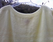 Yellow Hand Knit VEST Tank top Shell SWEATER Size 2x 22 24 bust 54 ooak Once of a kind