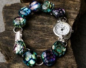 Dichroic Glass Multi-Colored Watch
