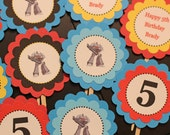 Transformers theme birthday cupcake toppers
