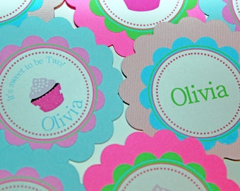 Cupcake theme birthday PARTY PACKAGE