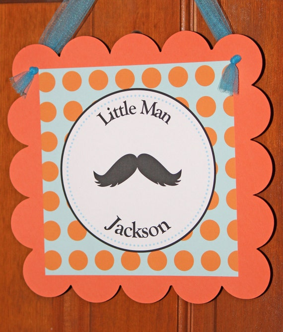 Little Man door sign