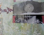 """art // print // giclee // collage // """"waiting quietly"""""""