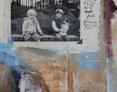 "art // print // giclee // collage // ""Me & Chrissy"""