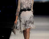 Evening, Cocktail dress, Designer dress, open back dress, long sleeve dress, custom made dress