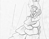 Wedding dress custom drawings, sketches