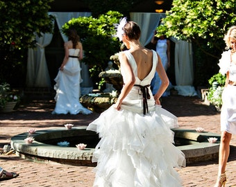 Charleston Wedding dress, designer wedding dress, custom made wedding dress