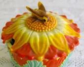 Honey Pot KITSCH Sunflower & Bee VINTAGE Most Amazing