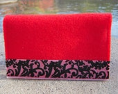 Birth Control Pill/Condom Case - Red with Ribbon Detail