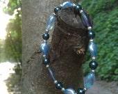 Pearly blue - bracelet