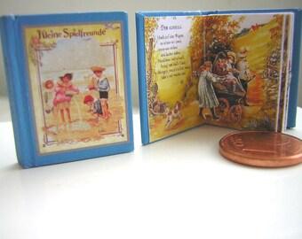 """1/12 pop Victorian miniature book """"Kleine Spielfreunde"""""""