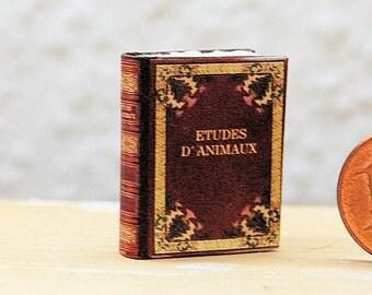 Miniature book, Etudes d Animaux 1:12 Scale for Dollshouse