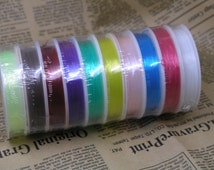 10 Rolls of Size 0.8mm Neon/Multi-colors Crystal Stretch Elastic Beading Wire/Thread
