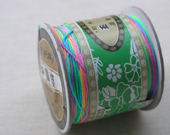 1Roll 125m/136YD Colorful Chinese Knotting/Beading Silk Cord/Thread 1mm