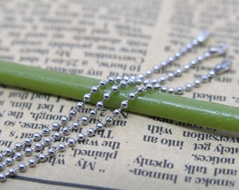 20 PCS of Stainless Steel 18'' Ball Chain Necklace 1.5mm Bead Lead Free for Dog Tag, Scrabble Tiles, Glass Pendant etc.