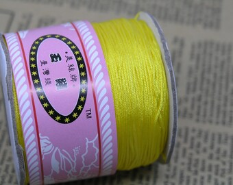 1Roll 145m/158YD Yellow Chinese Knotting/Beading Silk Cord/Thread 1.0mm