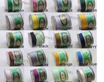 28 Colors avaibale 125m/136YD Chinese Knotting/Beading Silk Cord/Thread 1.0mm
