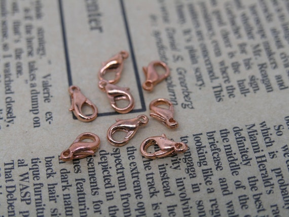 Lots 100 Pcs Alloy of Antique Copper Lobster Clasp Jewelry Findings 5x10mm Lead Free