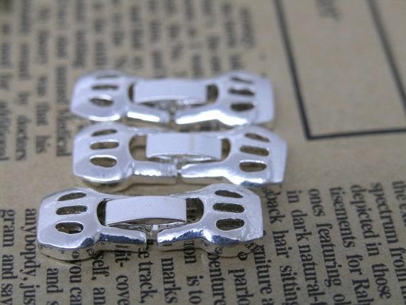 5 Sets Silver Tone Watch/Bracelet Buckle, Closure, Clasp