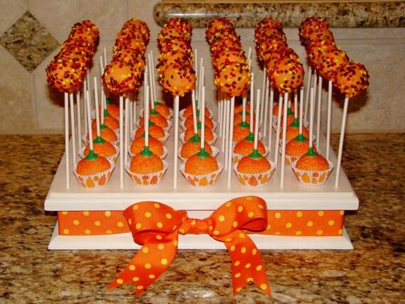 Wood Cake Pop Stand Rectangle 30 Hole Display
