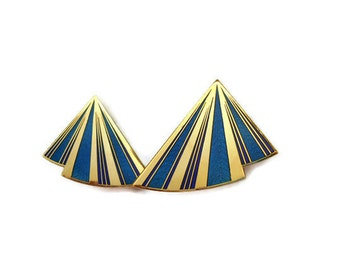 1980's Designer 'Nuri' Clip On Earrings