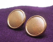 Disco button earrings